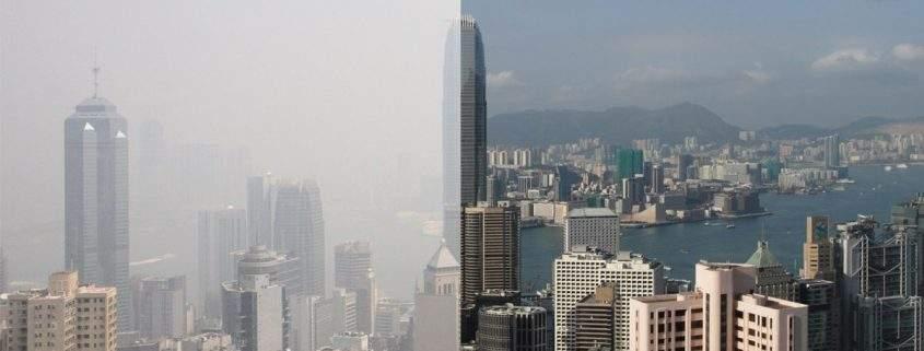 hong kong market-ev-pollution